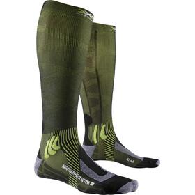 X-Socks Marathon Helix Retina Chaussettes, black melange/effektor green